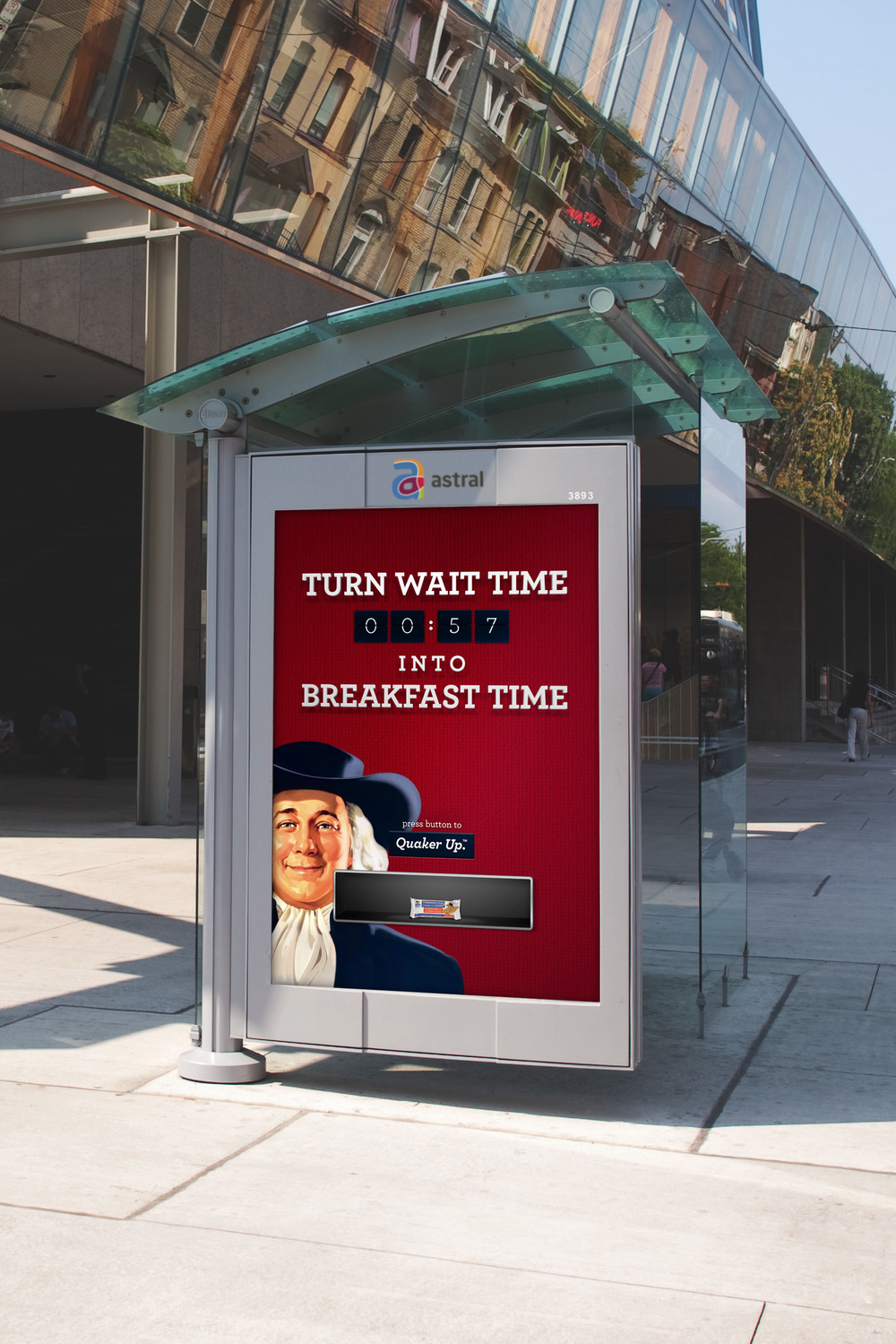 Turn wait time into breakfast time with Quaker Oatmeal-to-go bars.