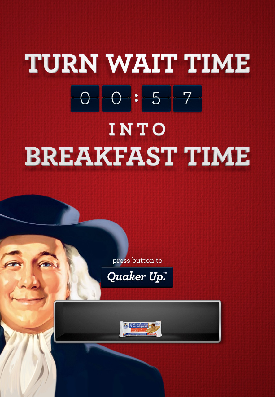 The transit ad would let you know exactly how long you had to grab breakfast before your bus arrived.