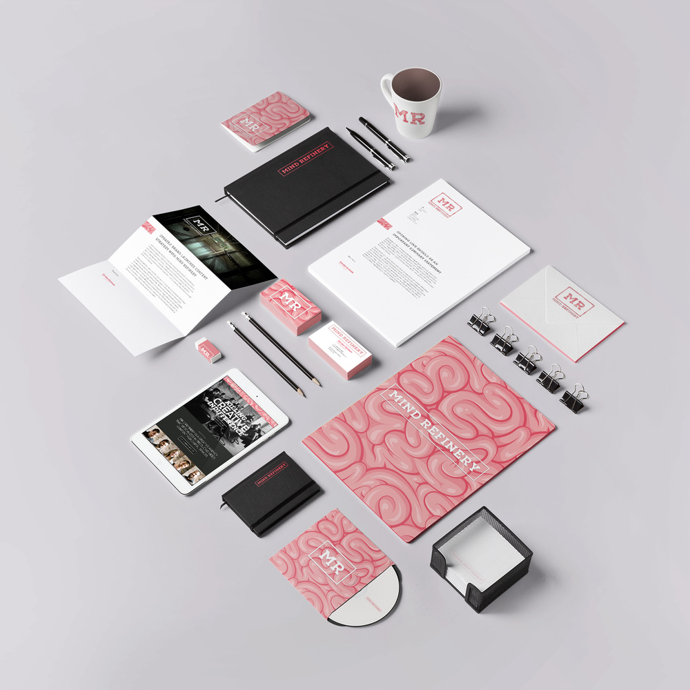 Office stationary executions as exploration of new MR branding.