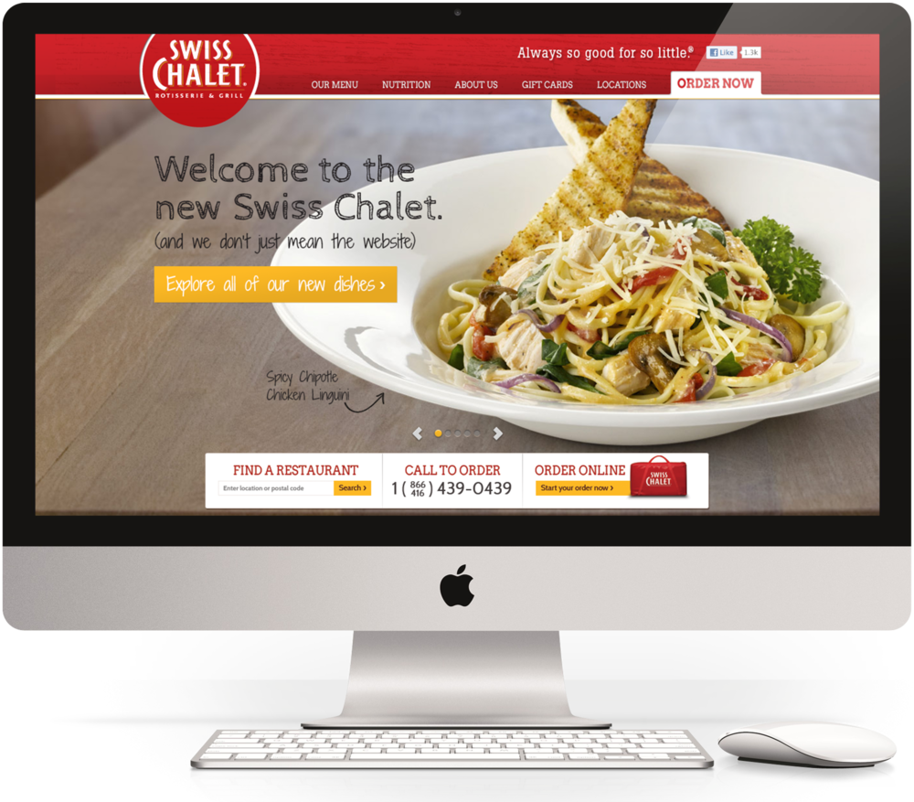 Swiss Chalet: Homepage concept.