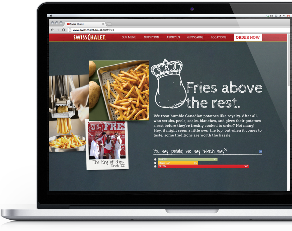 Swiss Chalet: About Us Concept.