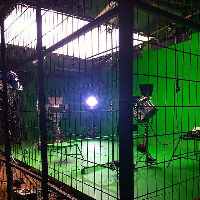 Caged!  We love challenging shoot locations!