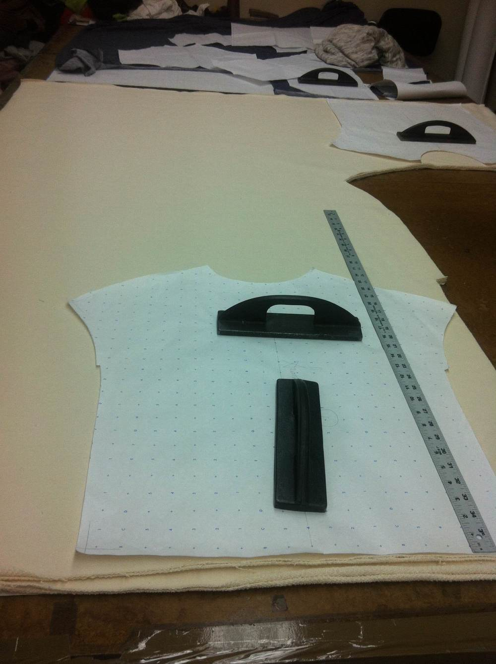 In cutting mode at the factory, each piece is carefully cut by hand.