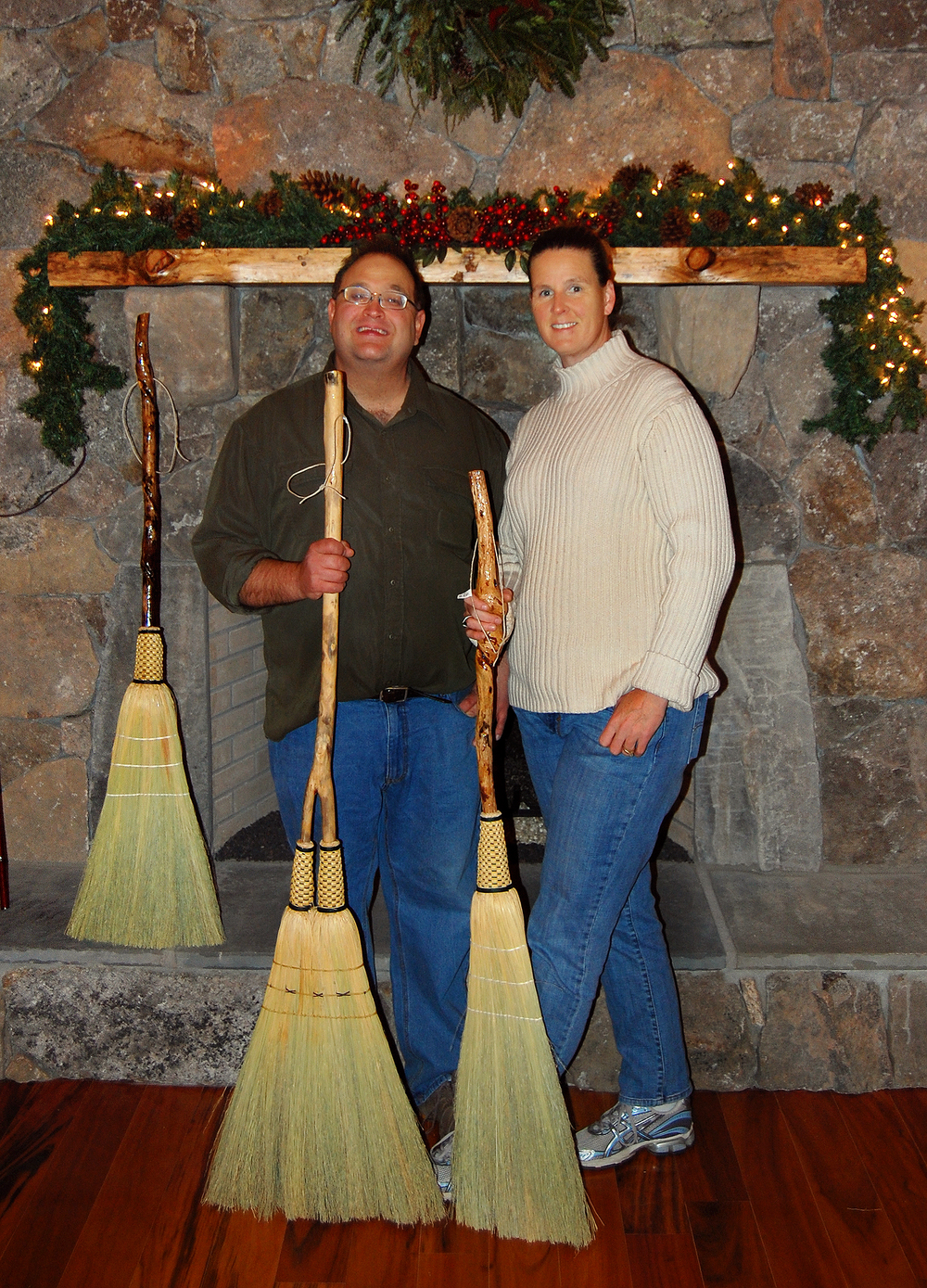 Marlow and Diana Gates, Friendswood Brooms