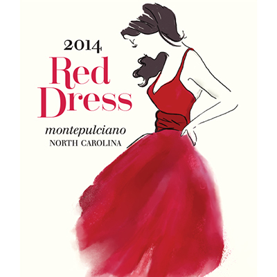 Addison Farms Vineyard 2014 Red Dress label