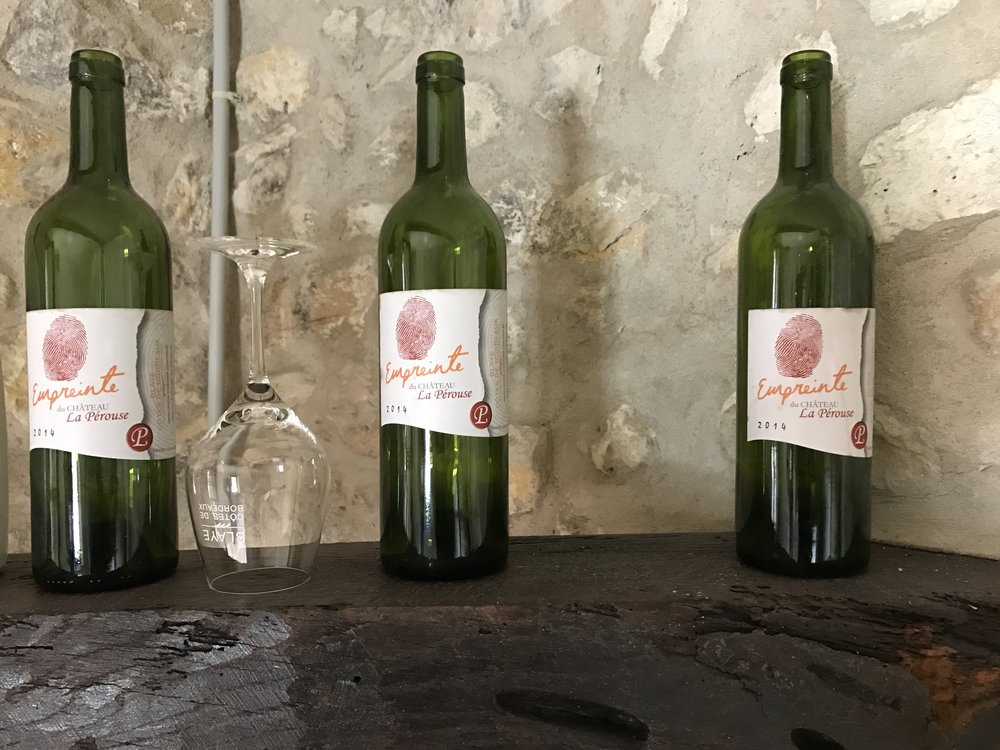A few empty bottles from Chateau La Perouse