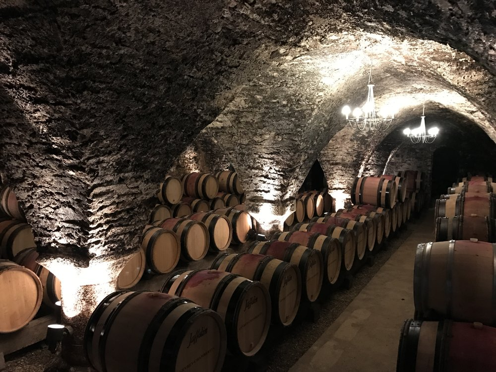 One of the cellars at Jaffelin