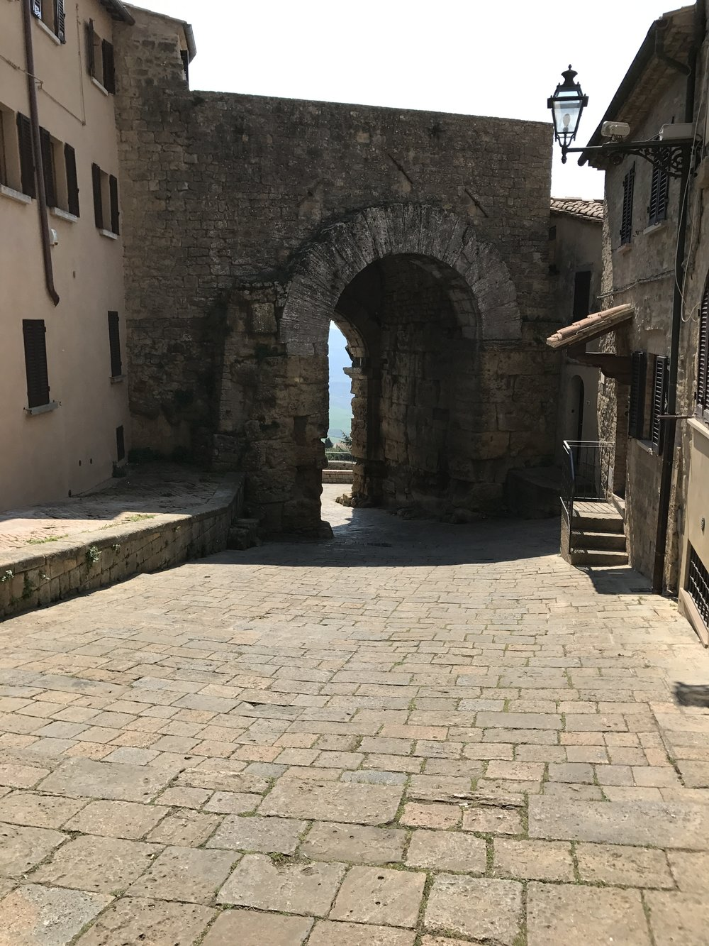 The Etruscan gate in Volterra