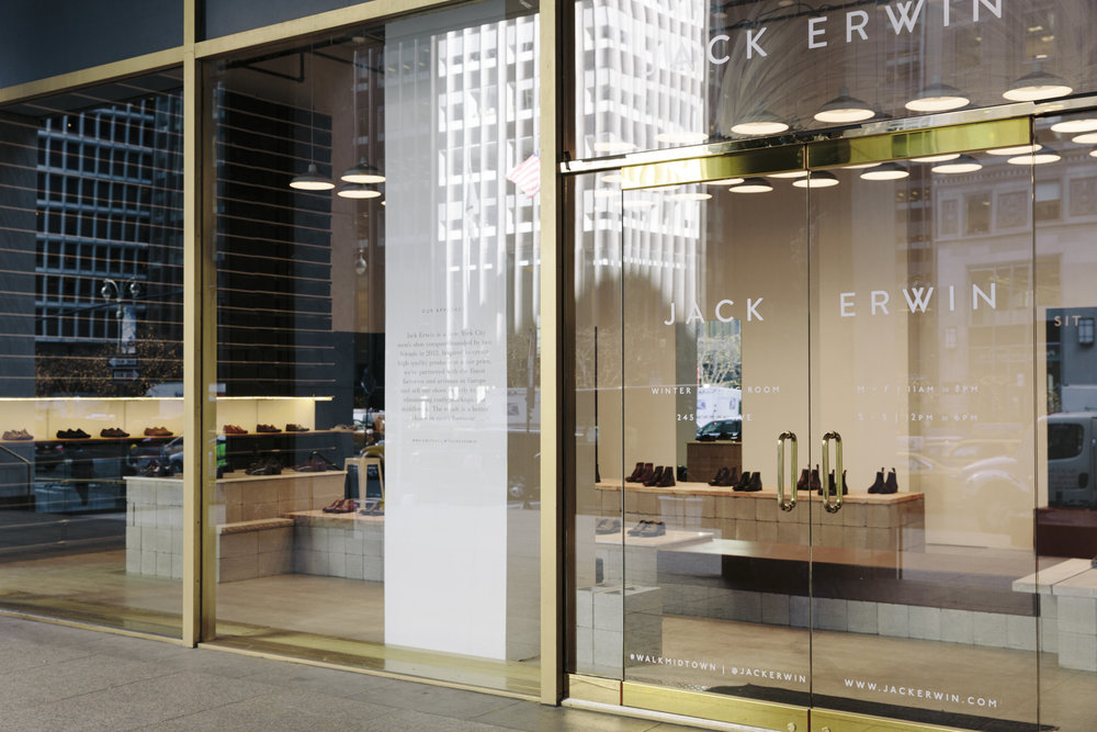 Jack Erwin Pop-Up. NYC, 2015.