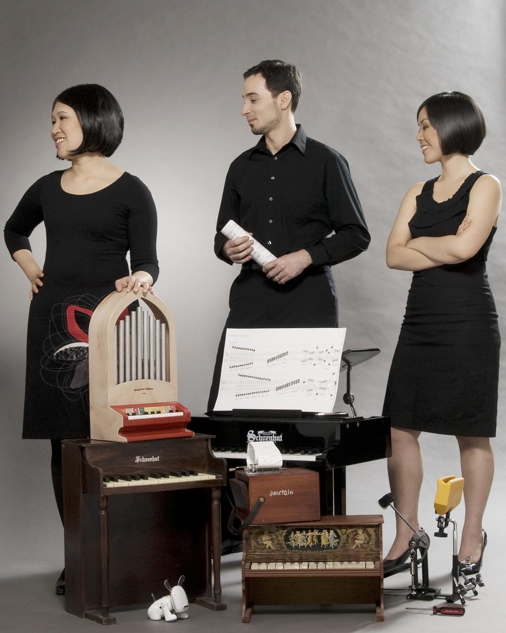 junctQín Keyboard Collective: Elaine Lau, Joseph Ferretti, Stephanie Chua