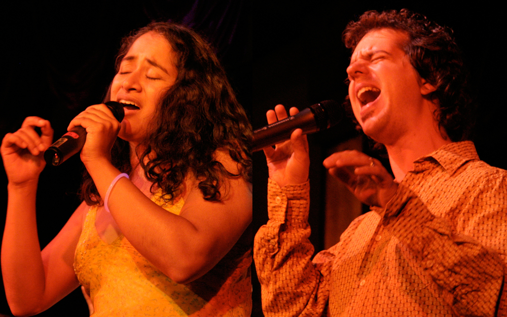 Suba Sankaran and Dylan Bell, the Freeplay Duo, appearing at the Open Ears Regatta on June 20th, 11:00 PM, Zehr Civic Square (Kitchener City Hall).