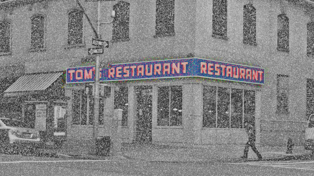 The lost pixels from compressed images of Tom's Diner.