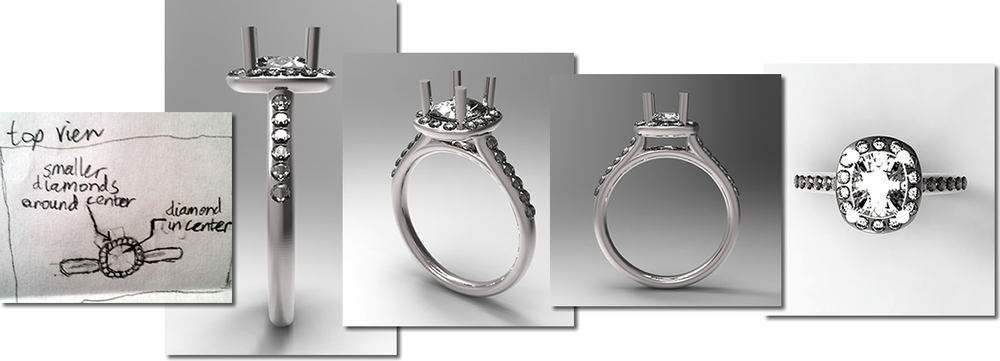 Custom Design and Manufacture of Fine Jewelry.