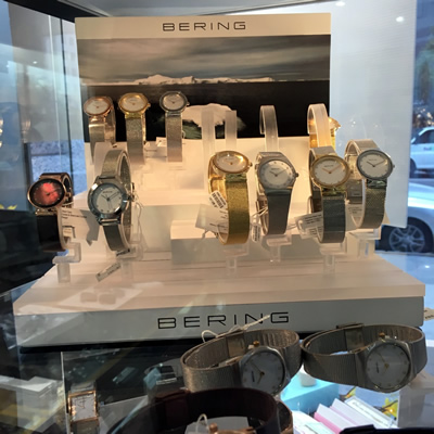 Bering Watches have arrived and are on display. Check them out!