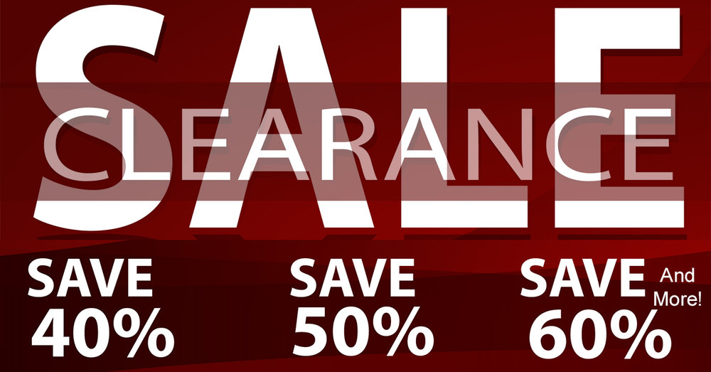 We have created a clearance showcase!We have placed big discounts on some of our overstocked fine jewelry. You may find them in the clearance showcase. Please take a look next time you stop in.