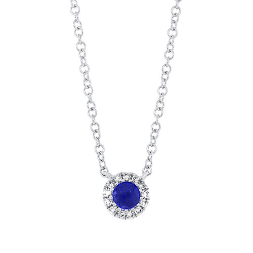 Diamond blue sapphire 14k gold diamond pendant robert laurence diamond blue sapphire 14k gold diamond pendant aloadofball Gallery
