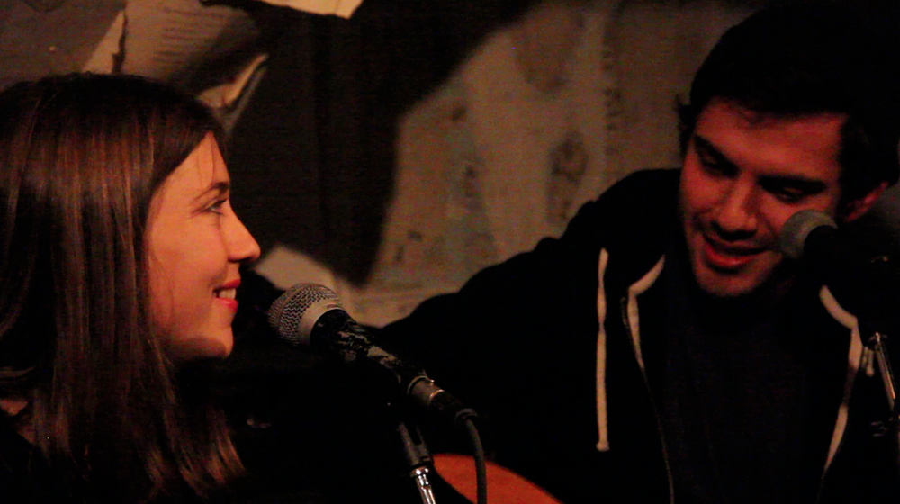 "We spent an evening watching Laura sing with her partner in their band ""Laura & Greg"""