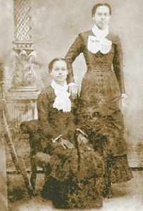 Elizabeth with her daughter Rebecca.