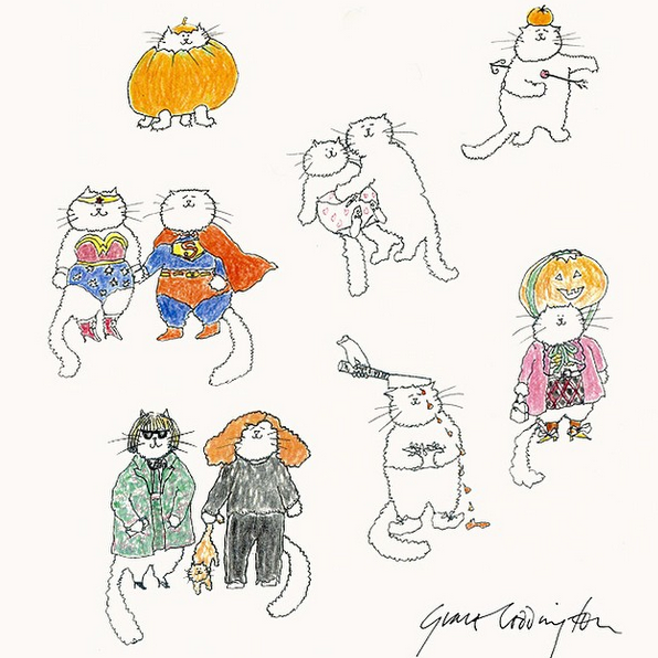 Illustration by Grace Coddington via  Vogue.com