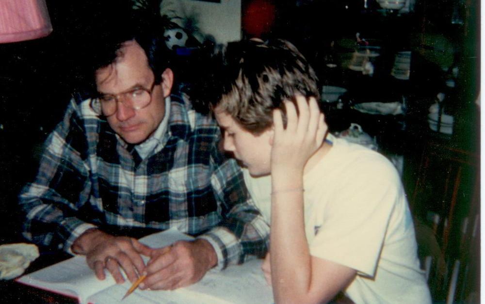My Dad teaching me Algebra.