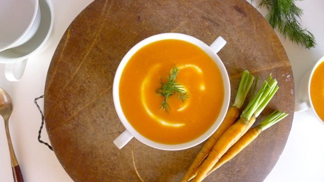 healthy dilled carrot soup