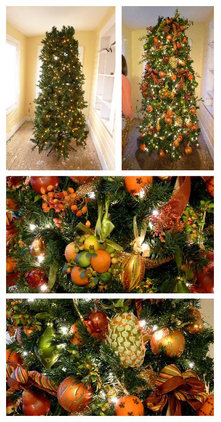 Christmas Tree Fruit Ornaments.My Holiday Decorations The Fruit Christmas Tree Ohcarlene