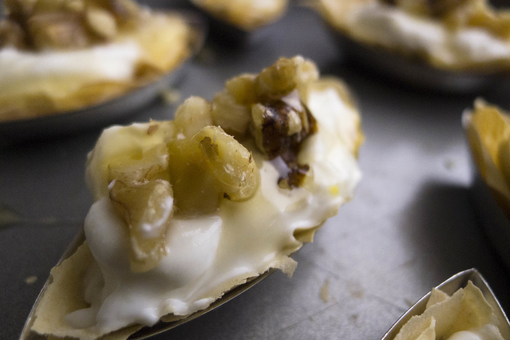 Light Goat Cheese Honey Walnut Tarts — Healthfully Ever After