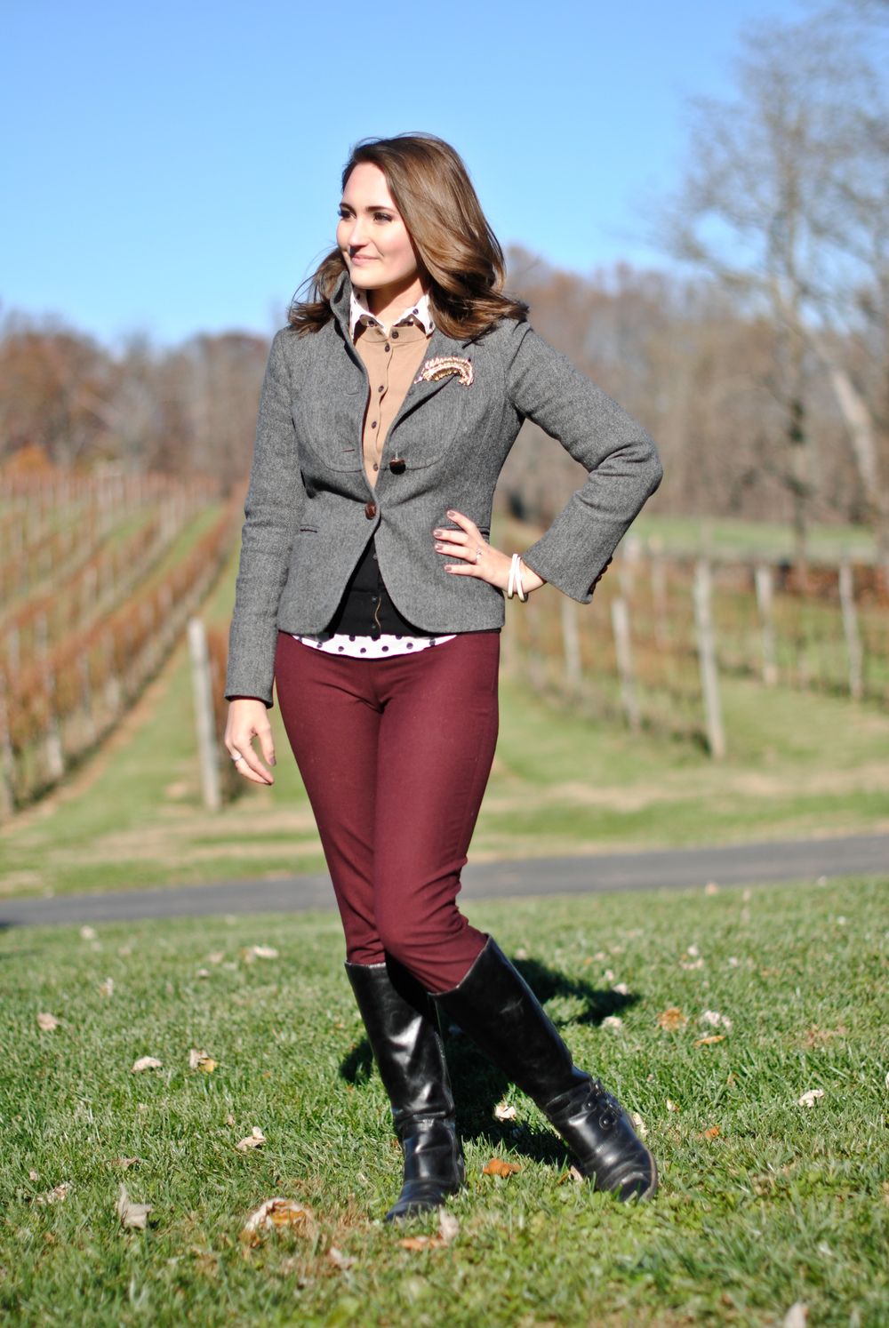 fall winery outfit