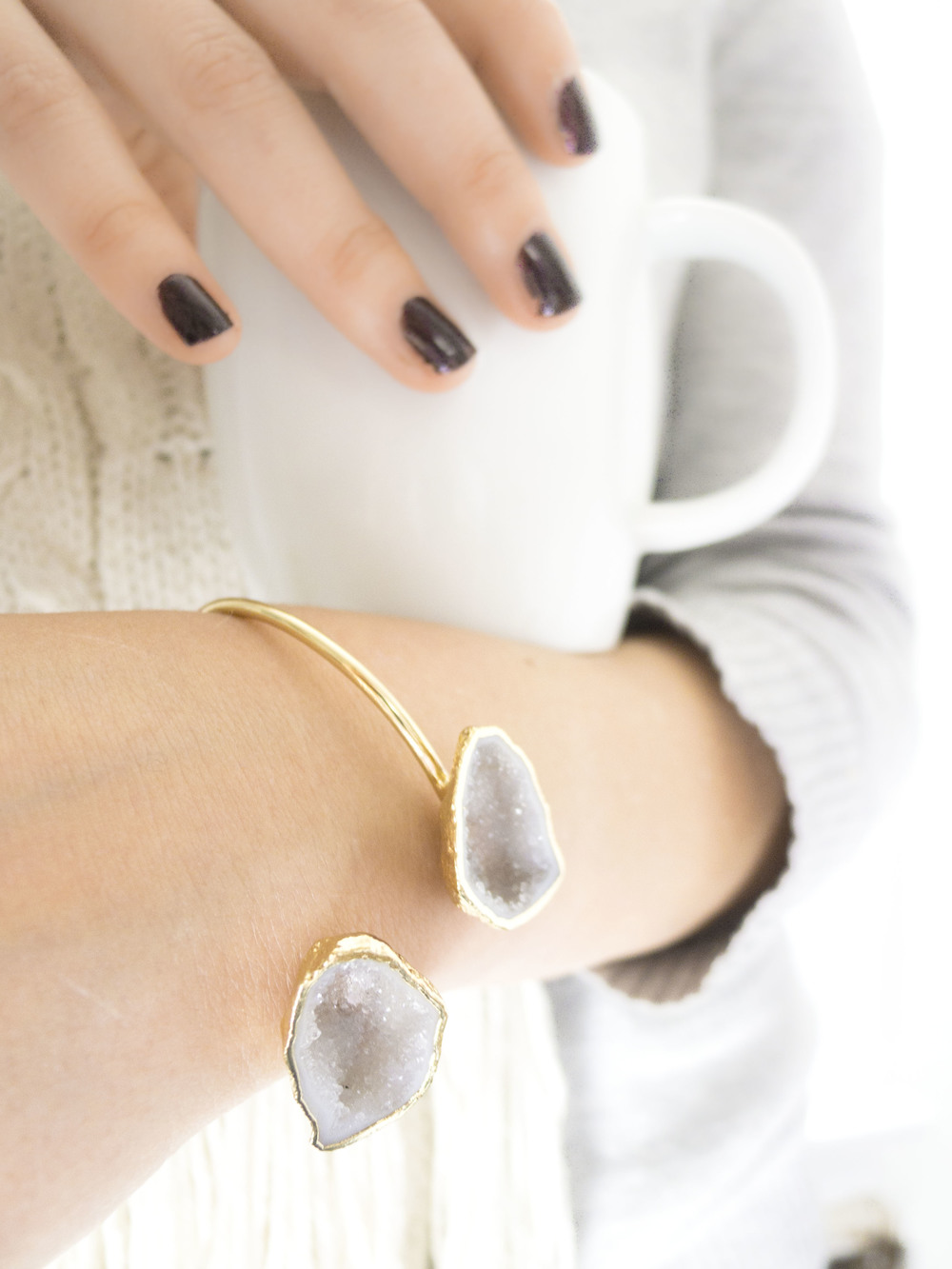 gold agate and natural mineral bracelets, waffles and honey discount code
