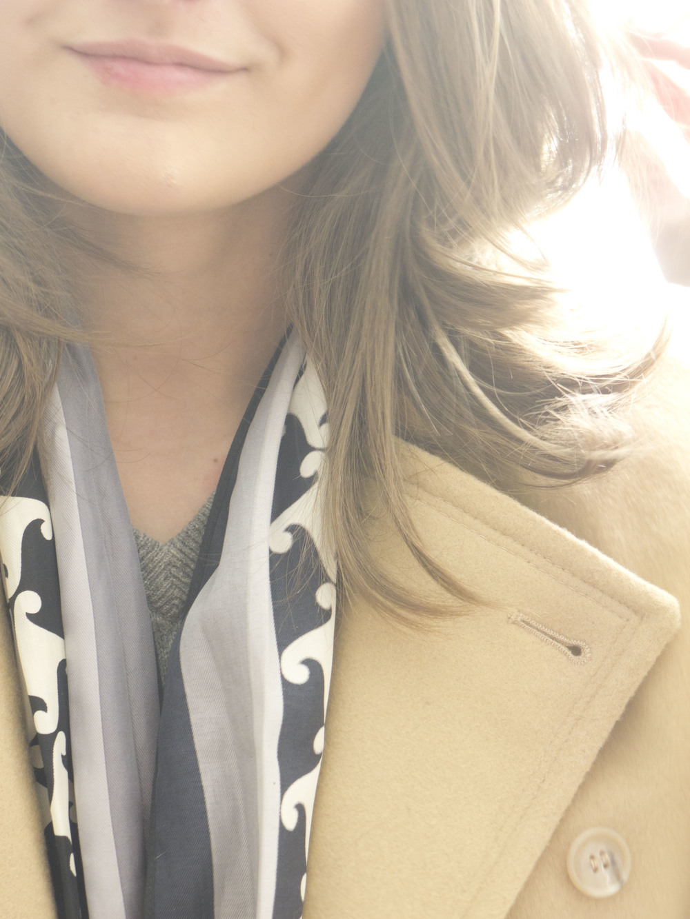 winter wool camel colored coat