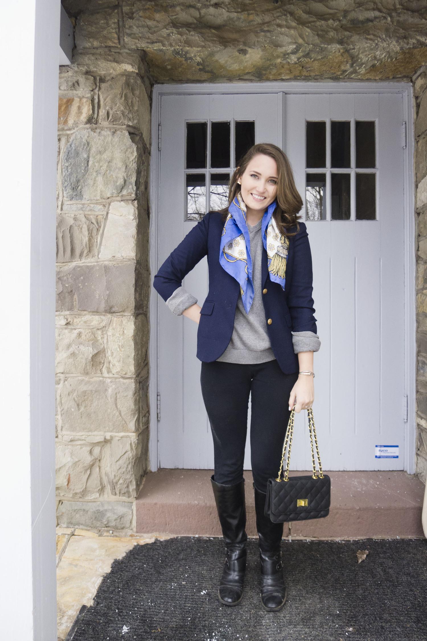 7a51f58a57 Outfit Post  The Blue Blazer — OhCarlene