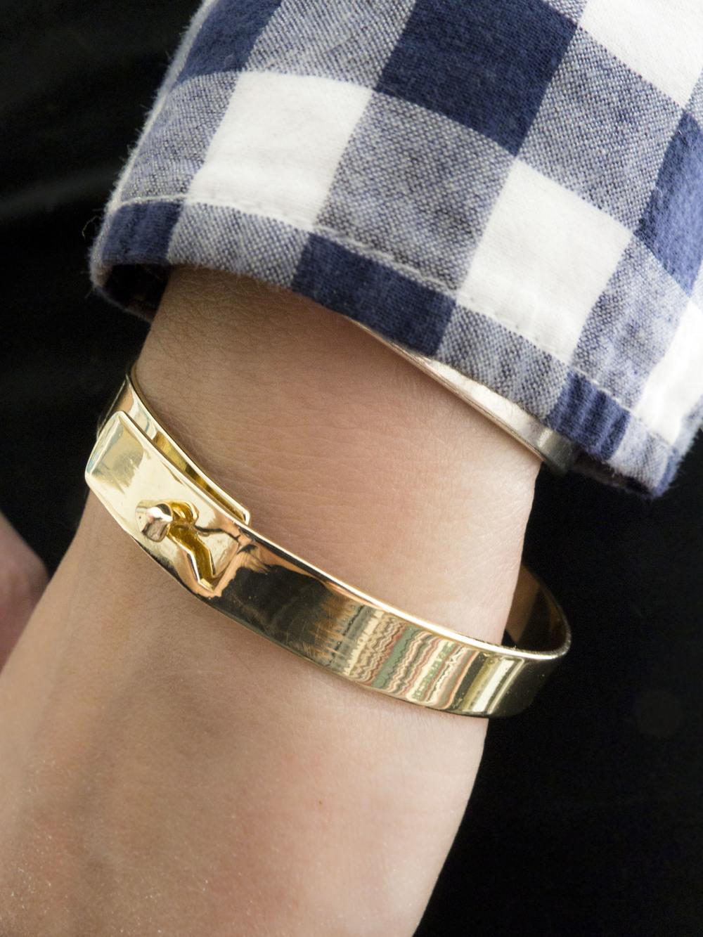 moorea seal gold peg simple bracelet