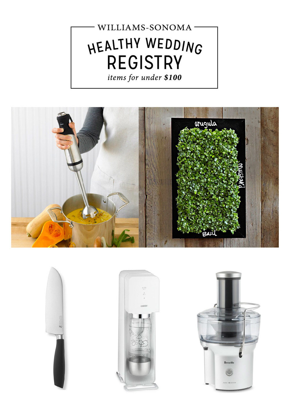Williams-sonoma wedding registry, healthy kitchen items under 100: Enter to win $5000 to WS!
