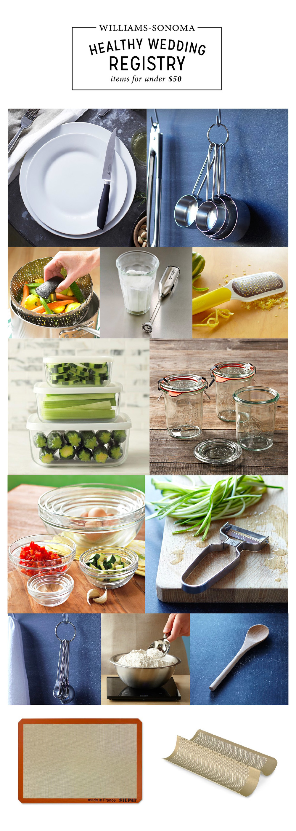 Williams-Sonoma healthy wedding registry kitchen items under $50: Enter to win $5000 to WS!!!