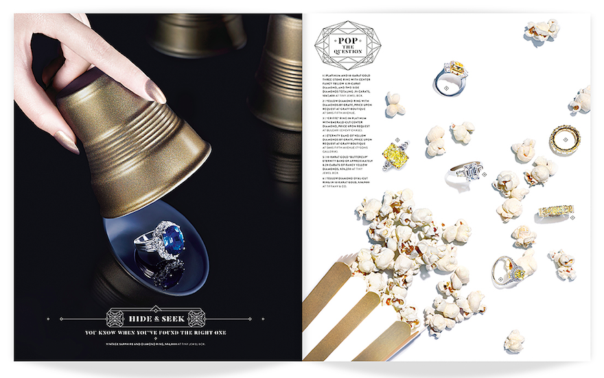 Washingtonian Bride & Groom (Winter/Spring 2014): And I Said Yes (Editorial Design and Art Direction) © Design Army LLC