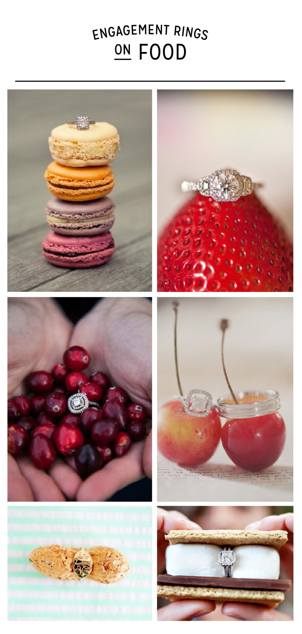 Engagement Rings on Food Photos