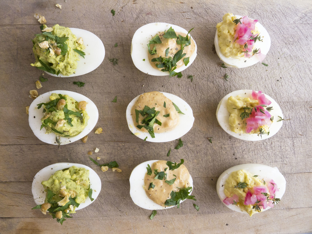 Deviled Eggs 3 Ways: Herbal, BBQ and Pickled