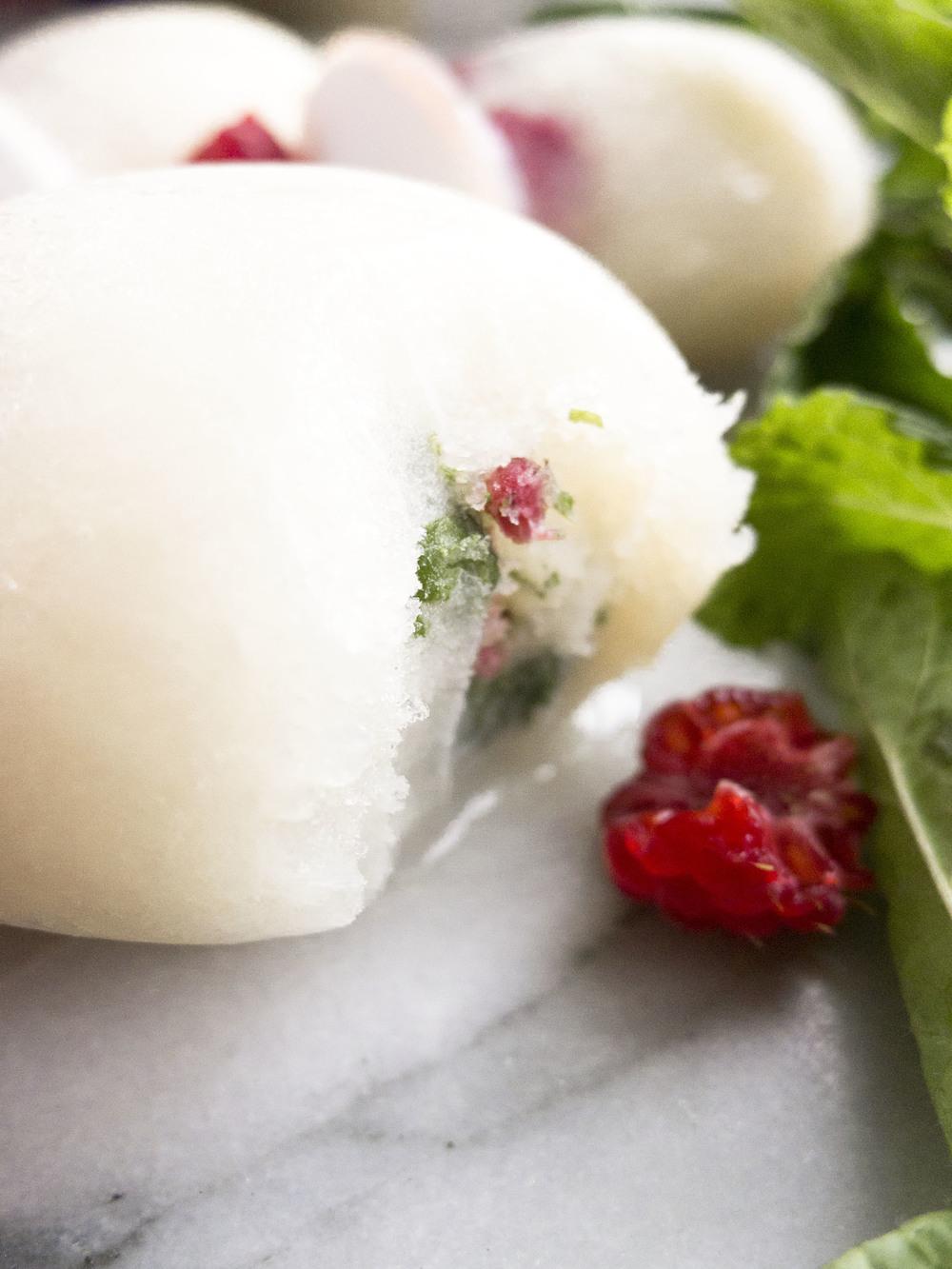 California Dairy low fat raspberry herb pops