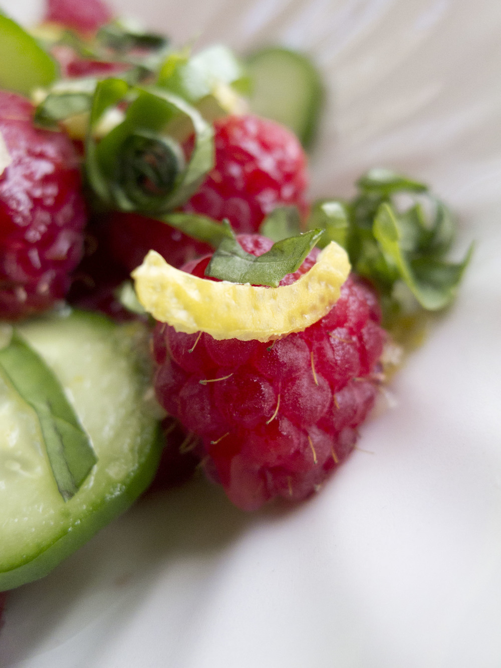 Cucumber Raspberry Salad