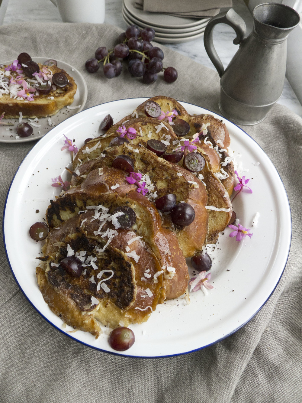 Coconut Milk Challah French Toast