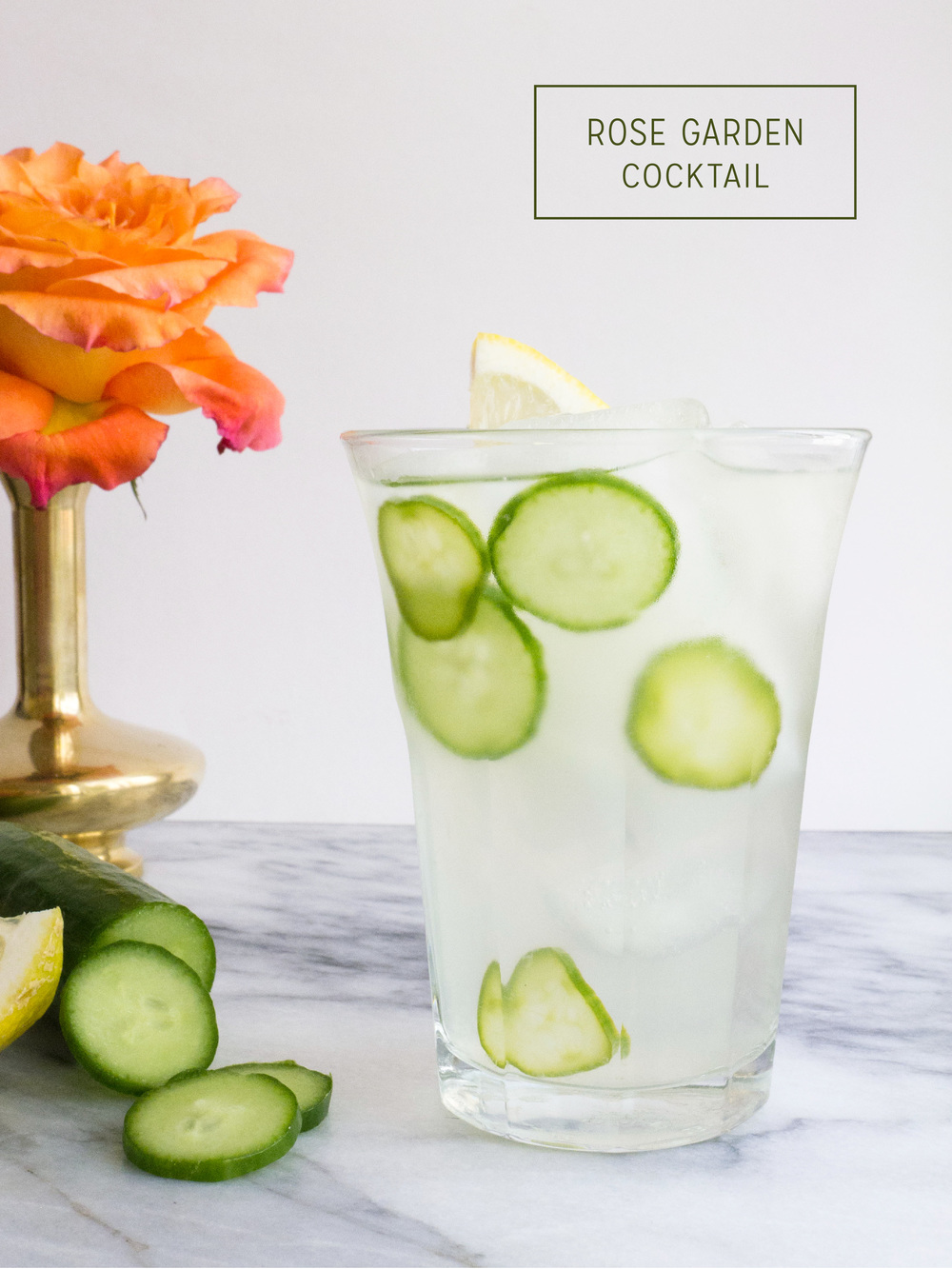 rosewater cucumber cocktail