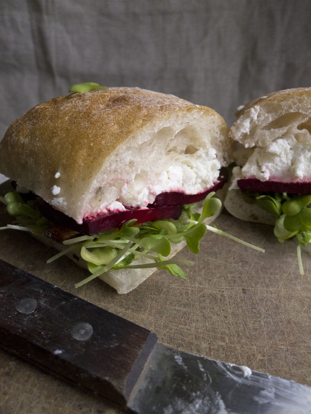Spring Roasted Beet Sandwich
