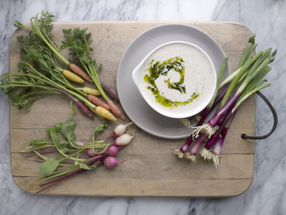 "Cute Crudité with High Protein ""Ranch"" Dip"