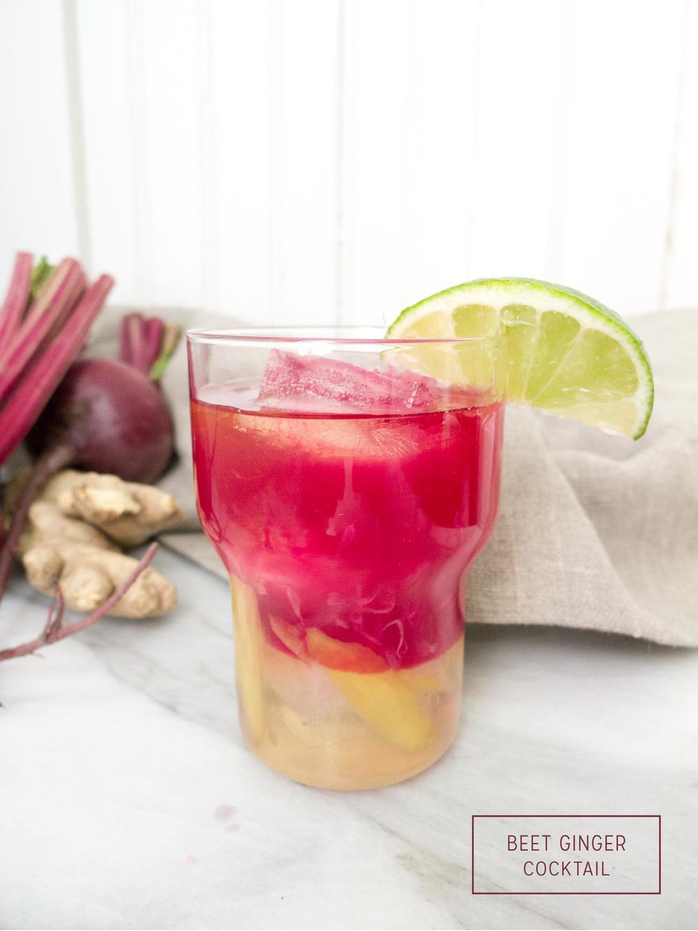 Healthier Cocktails: Beet Ginger