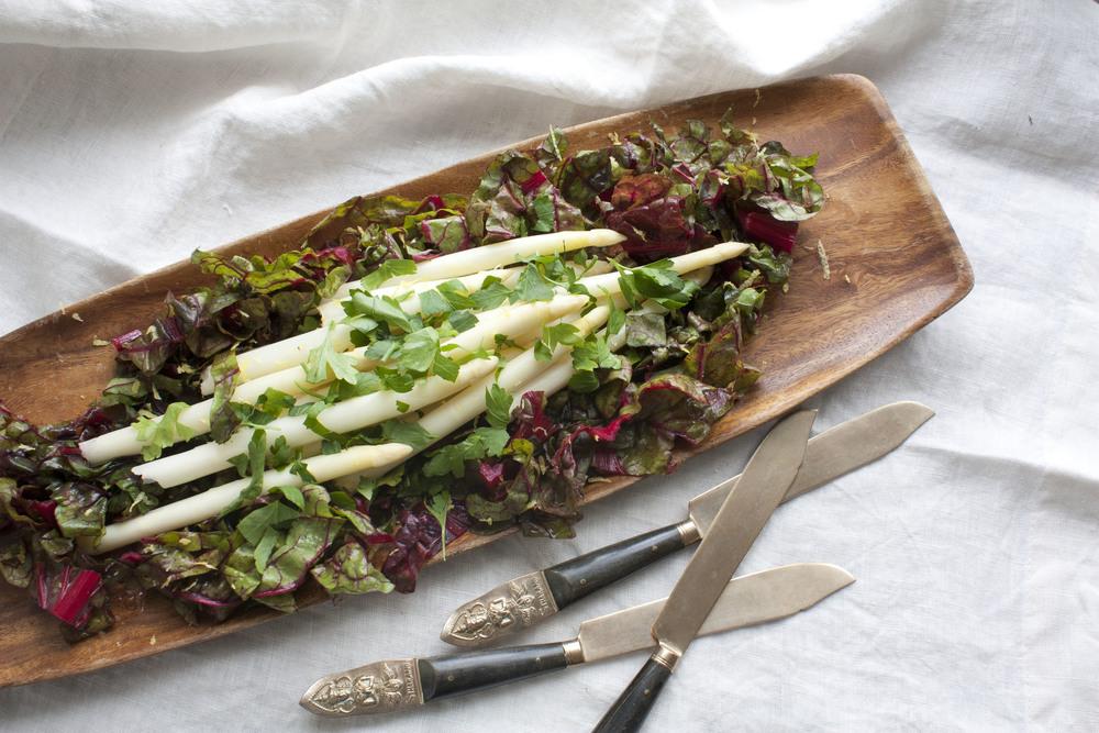 Spring White Asparagus Side Dish