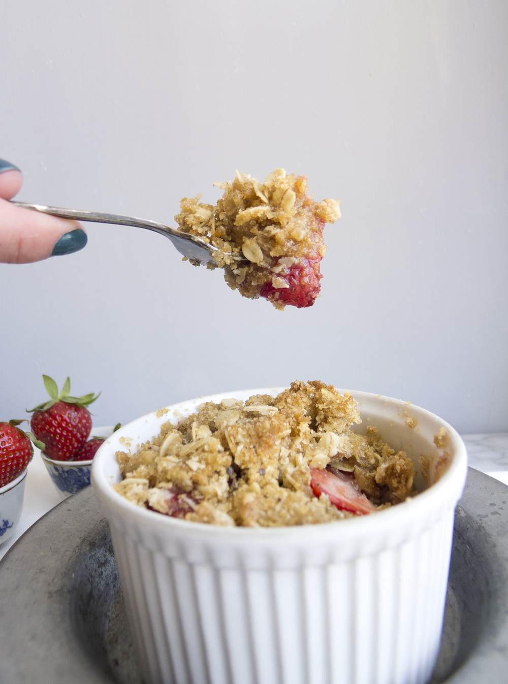 Gluten Free Strawberry Crumble