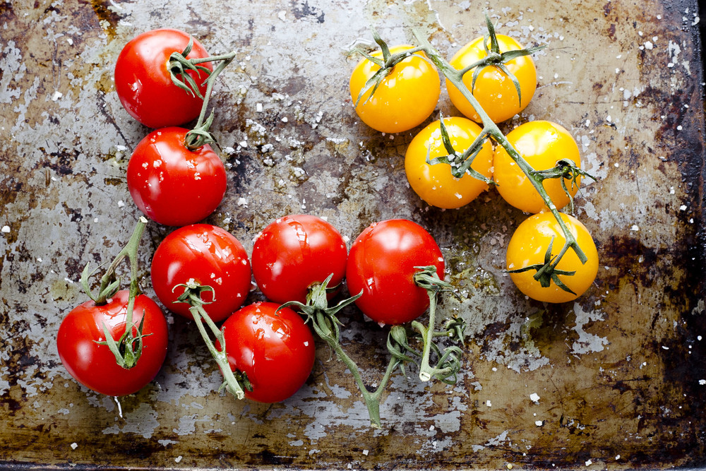 Oven Roasted Vine Tomatoes