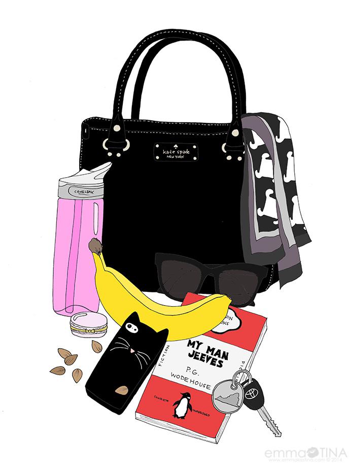 EmmaKisstina: Healthfully Ever After Blogger Bag Illustration