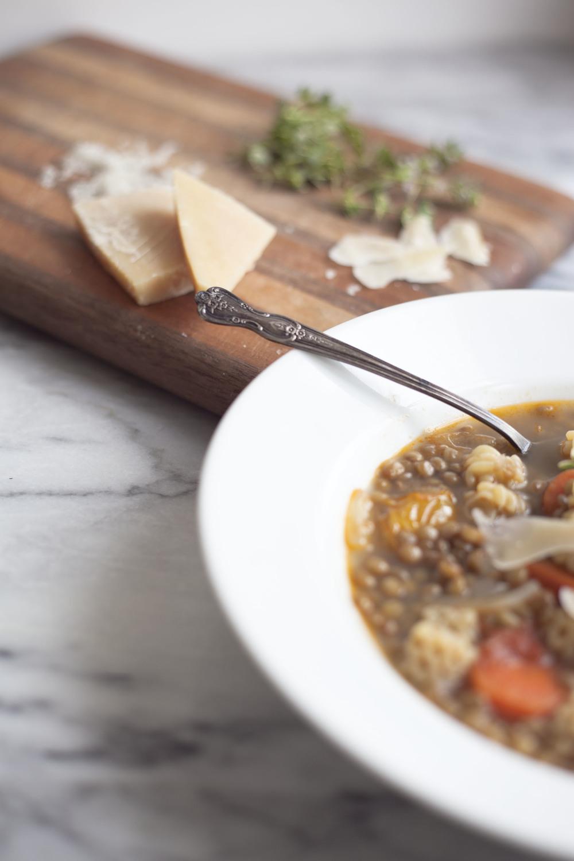 Parmesan Lentil Soup