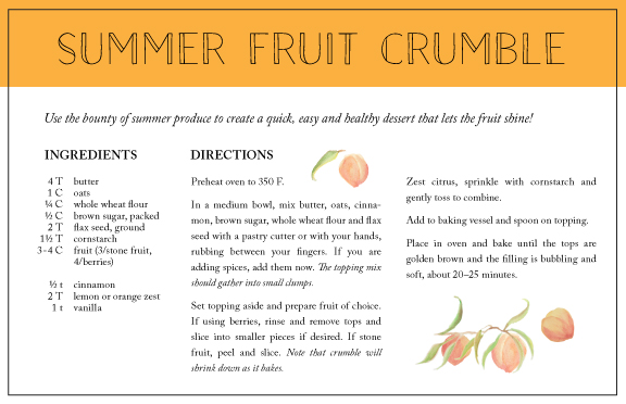 healthy summer fruit crumble: healthfully ever after